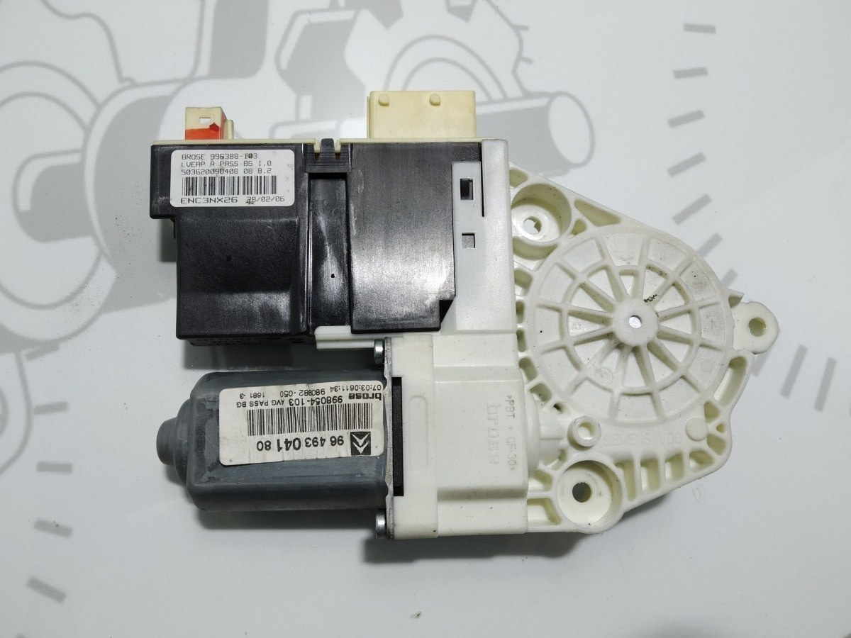 Моторчик стеклоподъемника передний левый Citroen C5 2.0 HDI 2006 (б/у)