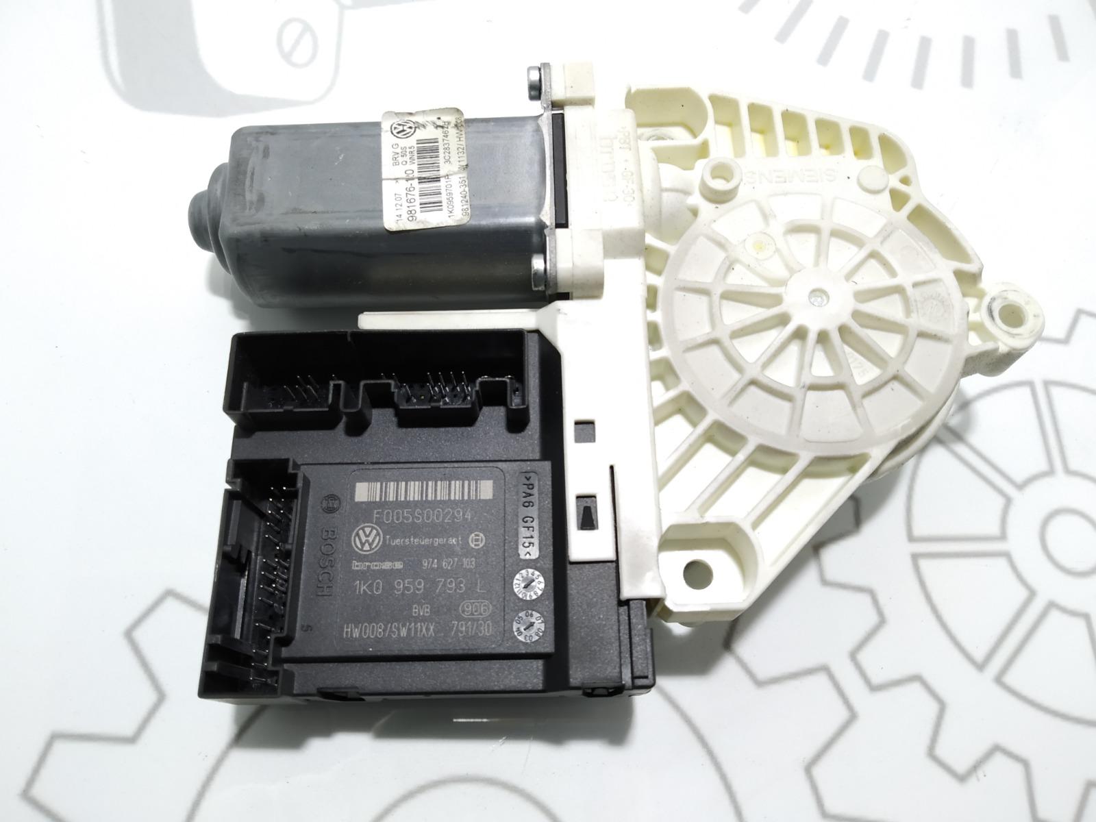 Моторчик стеклоподъемника передний правый Volkswagen Passat B6 1.9 TDI 2007 (б/у)