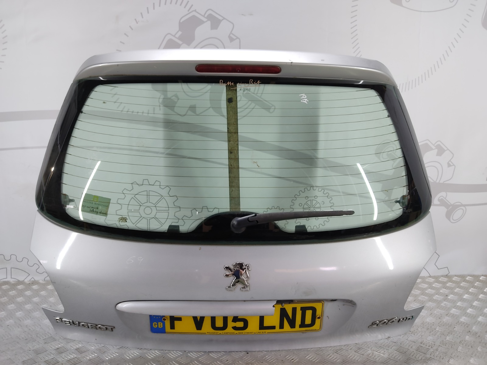 Крышка багажника (дверь 3-5) Peugeot 206 1.4 HDI 2005 (б/у)