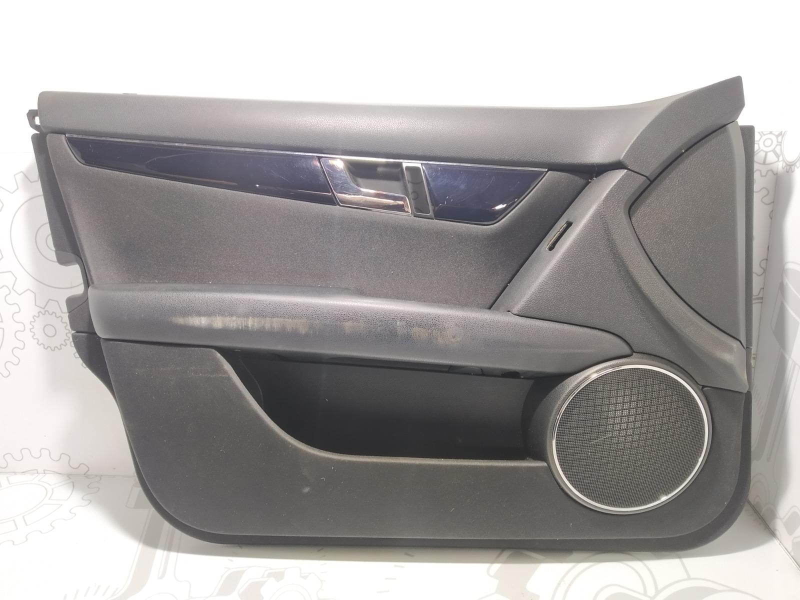 Обшивка двери передней левой (дверная карта) Mercedes C W204 2.2 CDI 2008 (б/у)