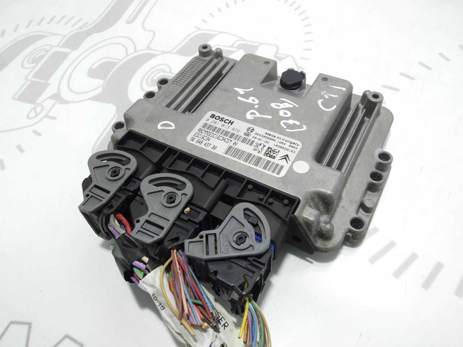 Блок управления двигателем Peugeot 308 T7 1.6 HDI 2009 (б/у)