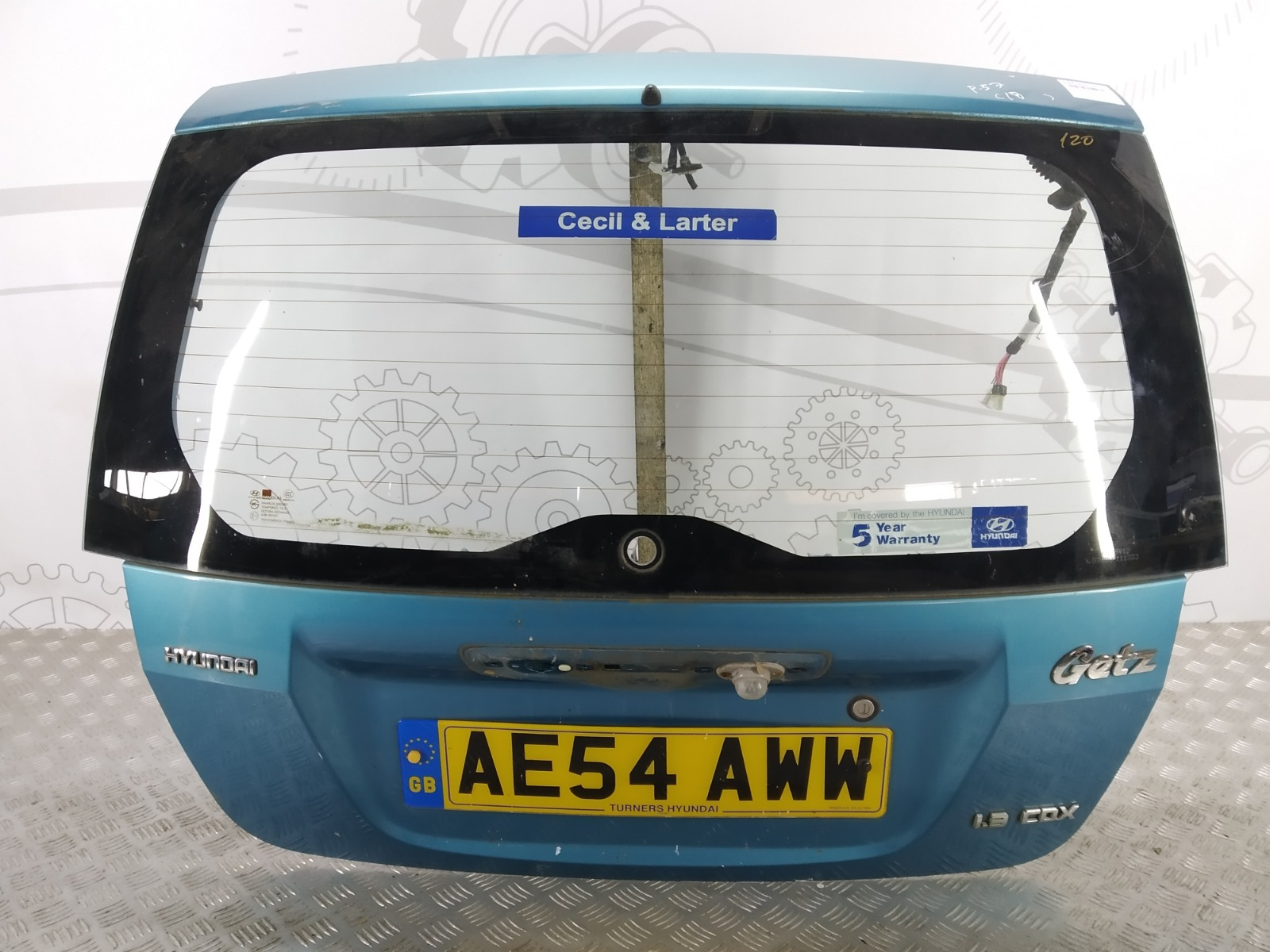 Крышка багажника (дверь 3-5) Hyundai Getz 1.3 I 2004 (б/у)