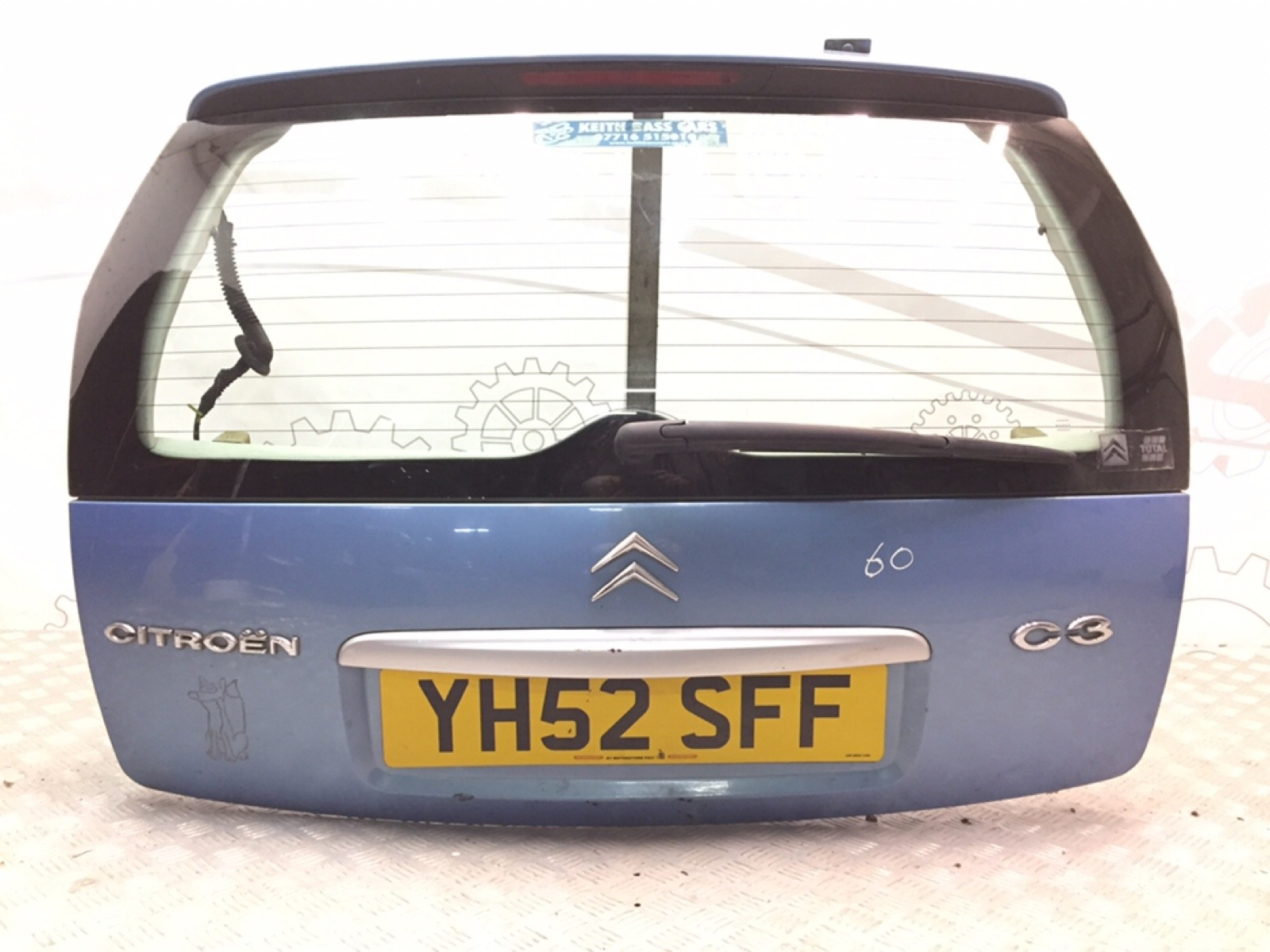 Крышка багажника (дверь 3-5) Citroen C3 1.6 I 2002 (б/у)