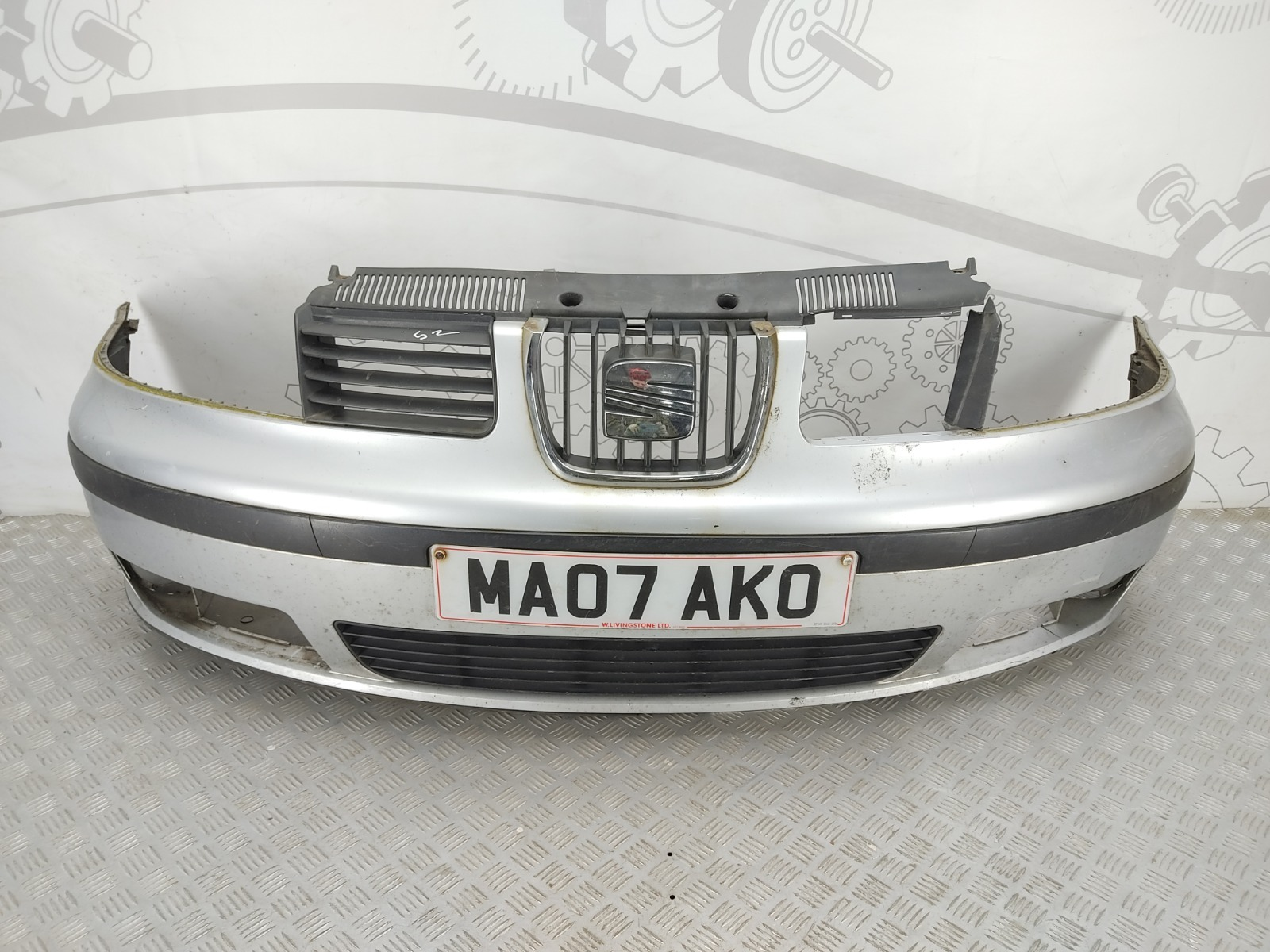 Бампер передний Seat Alhambra 2.0 TDI 2007 (б/у)