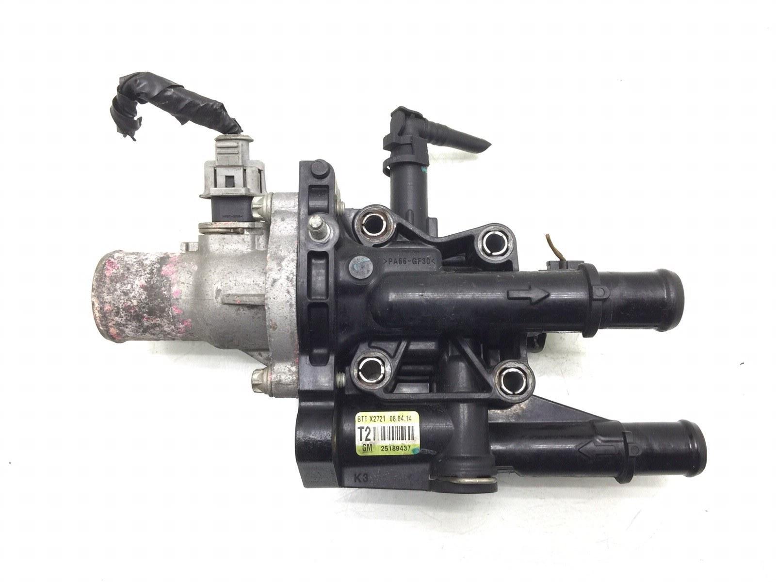 Корпус термостата Chevrolet Aveo T250 1.4 I 2010 (б/у)