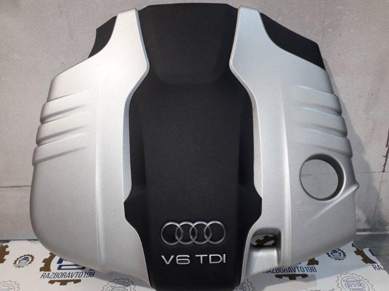 Крышка двигателя Audi Q7 4L 3.0 TDI 2012 передняя (б/у)