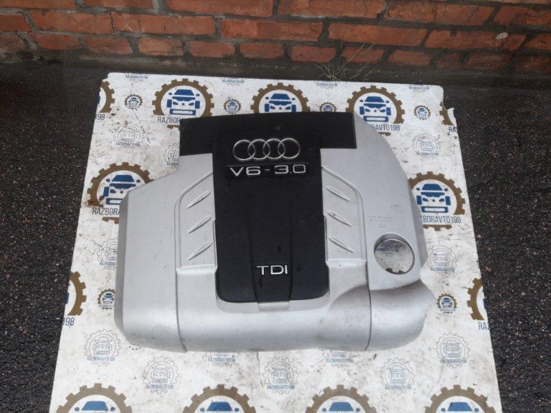 Крышка двигателя Audi Q7 4L 2010 передняя (б/у)