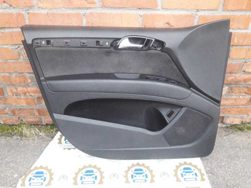 Обшивка двери Audi Q7 4L 2013 передняя левая (б/у)