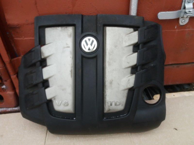 Крышка двигателя Volkswagen Touareg 7L 3.0 TDI BUG 2006 передняя (б/у)