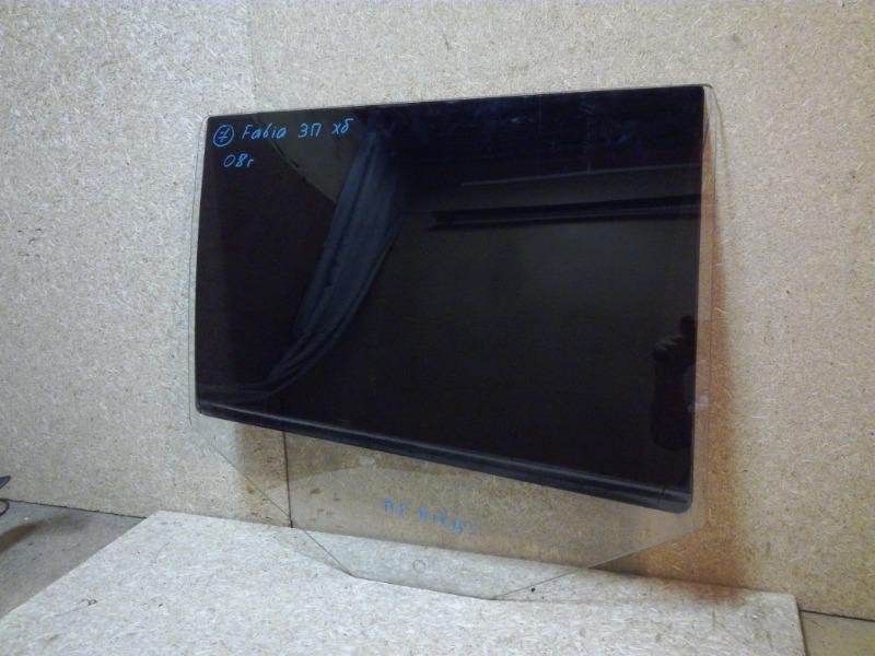 Стекло двери Skoda Fabia 5J2 2007 заднее правое (б/у)