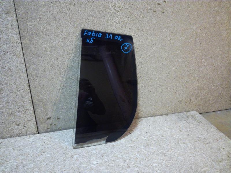 Стекло двери Skoda Fabia 5J2 2007 заднее левое (б/у)