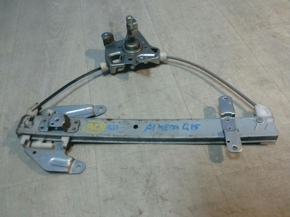 Стеклоподъемник Nissan Almera G15 2013 задний правый (б/у)
