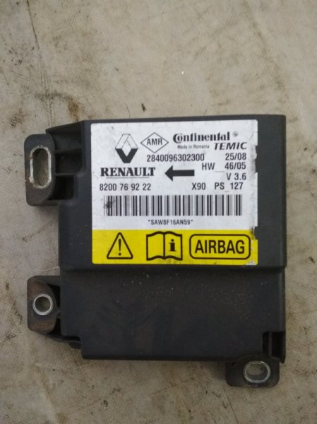Блок управления srs (безопасности) Renault Logan 1 LS K7M 2011 (б/у)