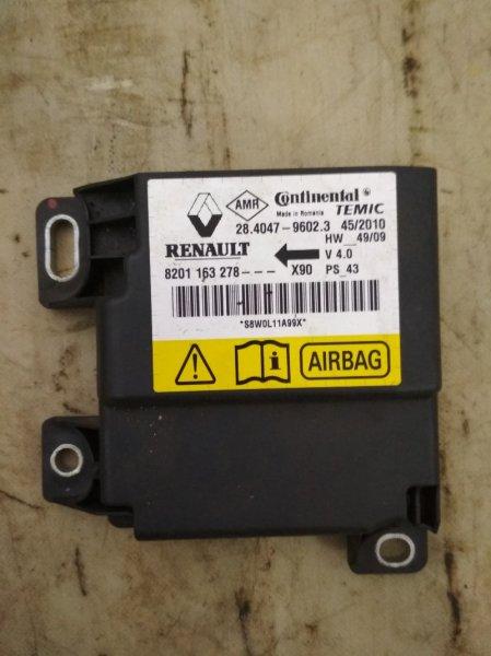 Блок управления srs (безопасности) Renault Logan 1 LS K7M 2010 (б/у)