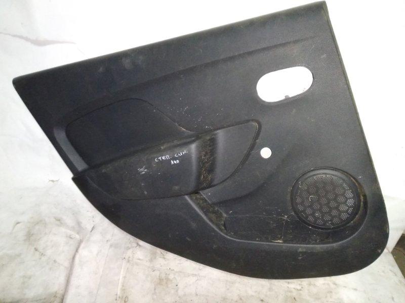 Обшивка двери Renault Sandero Stepway 2 5S H4M 2014 задняя левая (б/у)