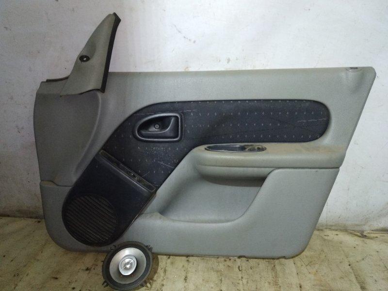 Обшивка двери Renault Symbol 1 LB K7J 2003 передняя правая (б/у)