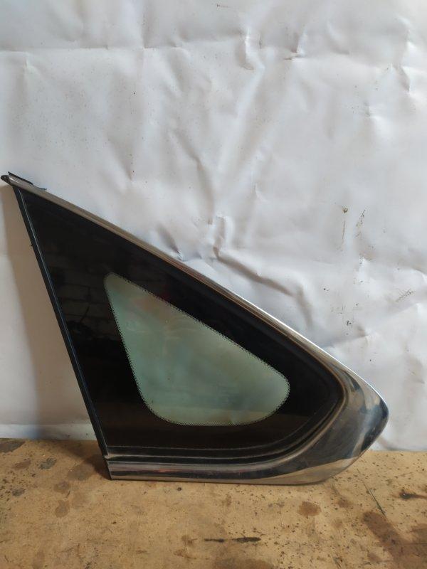 Форточка двери Nissan Almera G15 2012 задняя левая (б/у)