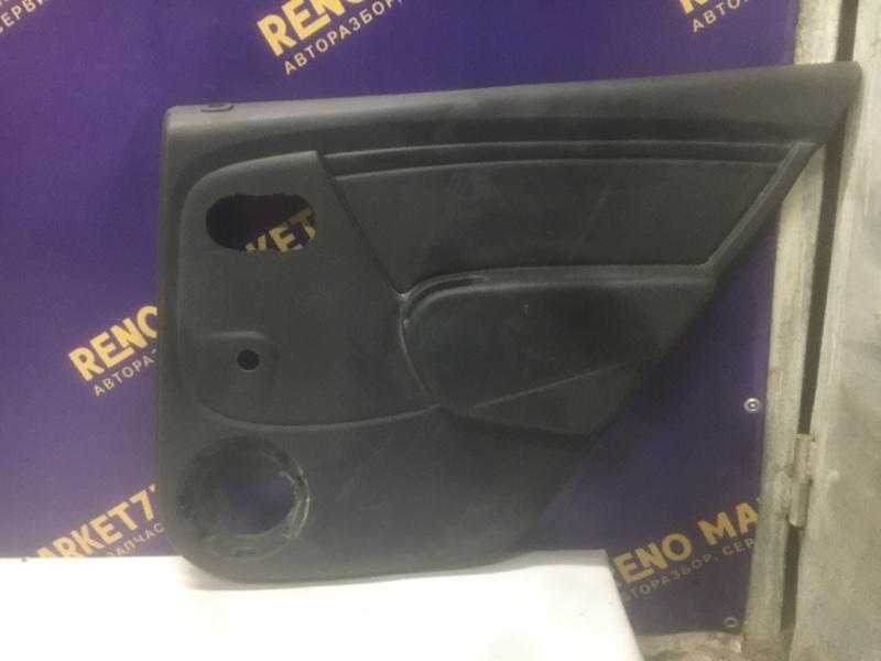 Обшивка двери Renault Sandero 2009 задняя правая (б/у)