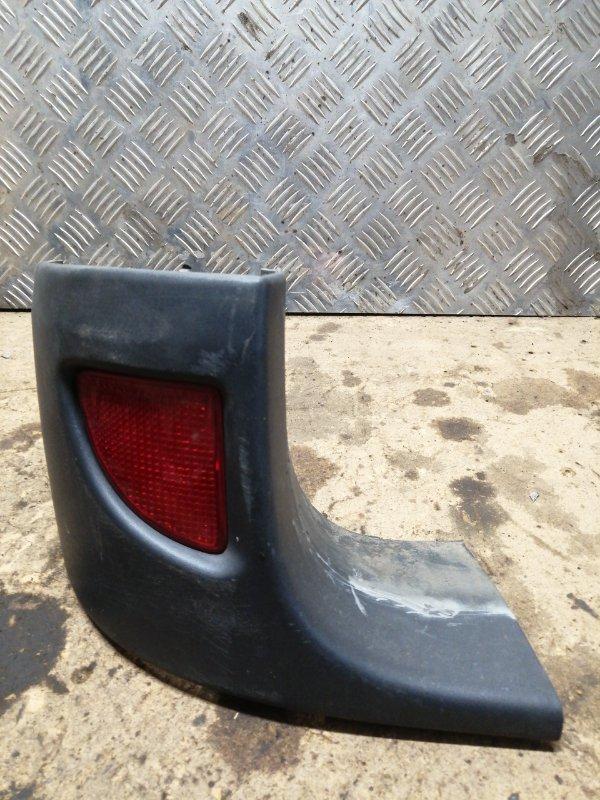 Накладка на бампер Renault Kangoo 1 1 2008 задняя левая (б/у)