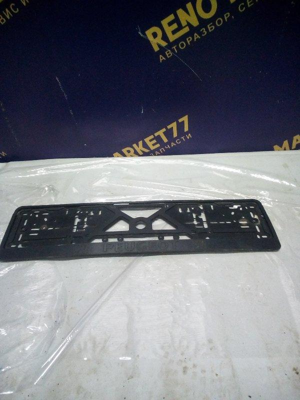 Рамка для номера Peugeot 307 УНЕВЕРСАЛ 1.6 109 Л.С 2004 (б/у)