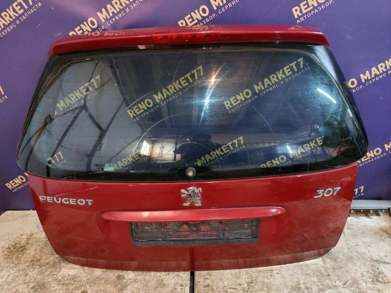 Крышка багажника Peugeot 307 УНЕВЕРСАЛ 1.6 109 Л.С 2004 задняя (б/у)