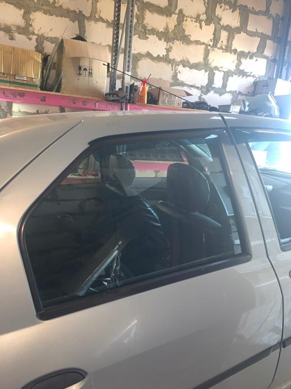 Стекло двери Renault Logan 1 LS K7J 2008 заднее правое (б/у)