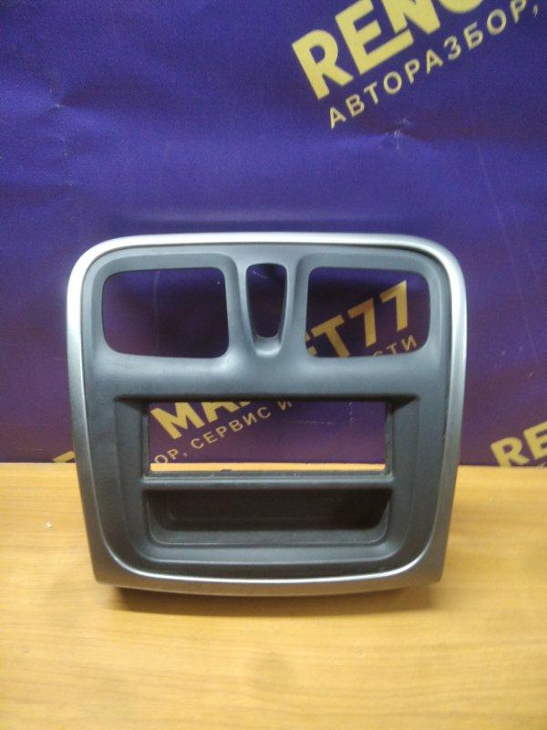 Рамка магнитолы Renault Logan 2 L8 K7M 2017 (б/у)