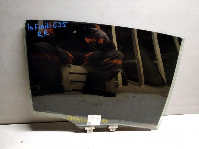 Стекло двери опускное Infiniti G35 V36 2006 заднее правое (б/у)