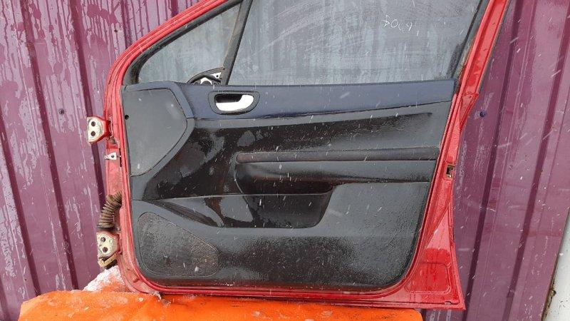 Обшивка двери Peugeot 307 3A 2001 передняя правая (б/у)