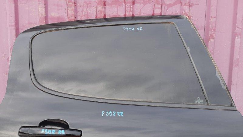 Стекло двери опускное Peugeot 308 T7 2007 заднее правое (б/у)