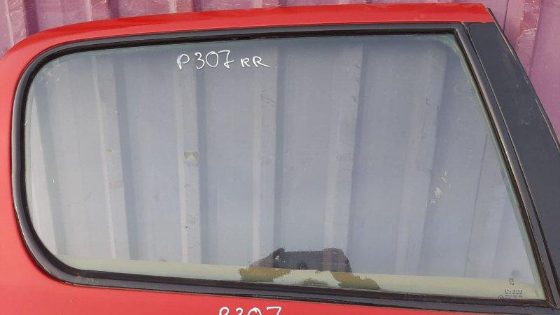Стекло двери опускное Peugeot 307 3A 2001 заднее правое (б/у)