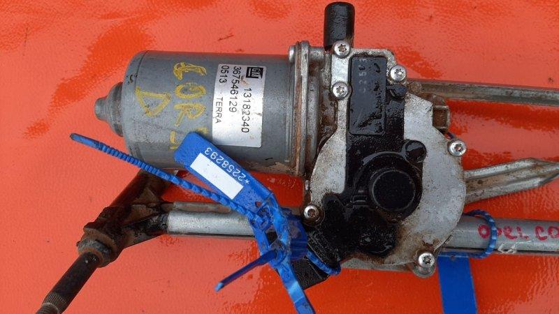Мотор трапеции стеклоочистителя Opel Corsa D 2006 (б/у)