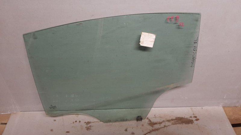 Стекло двери опускное Citroen C5 2 2008 заднее левое (б/у)