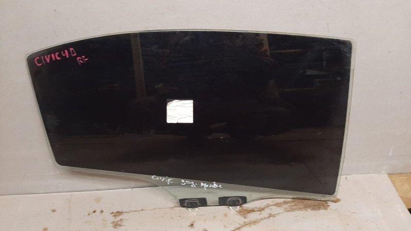 Стекло двери опускное Honda Civic 8 4D 2005 заднее правое (б/у)