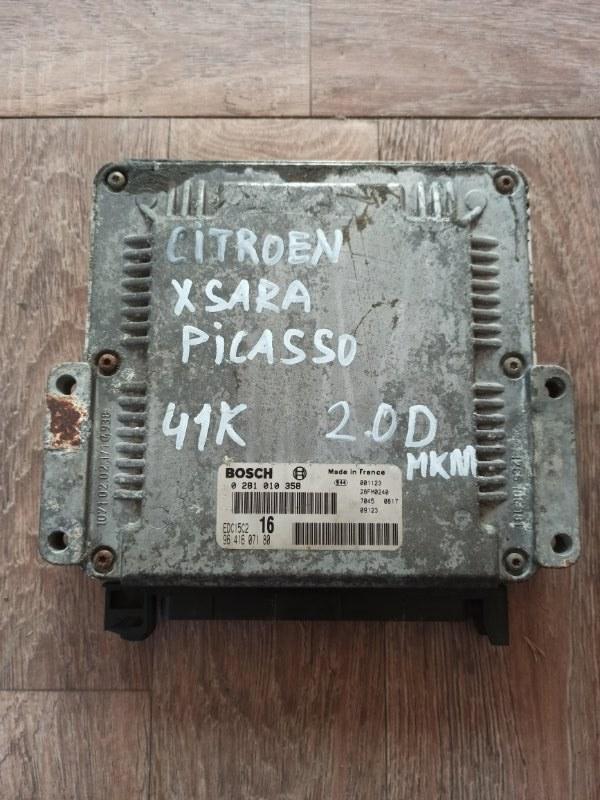 Блок управления двигателем Citroen Xsara Picasso N68 EW10J4 1999 (б/у)