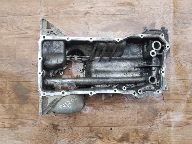 Поддон масляный двигателя Nissan Patrol Y62 VK56VD 2010 (б/у)