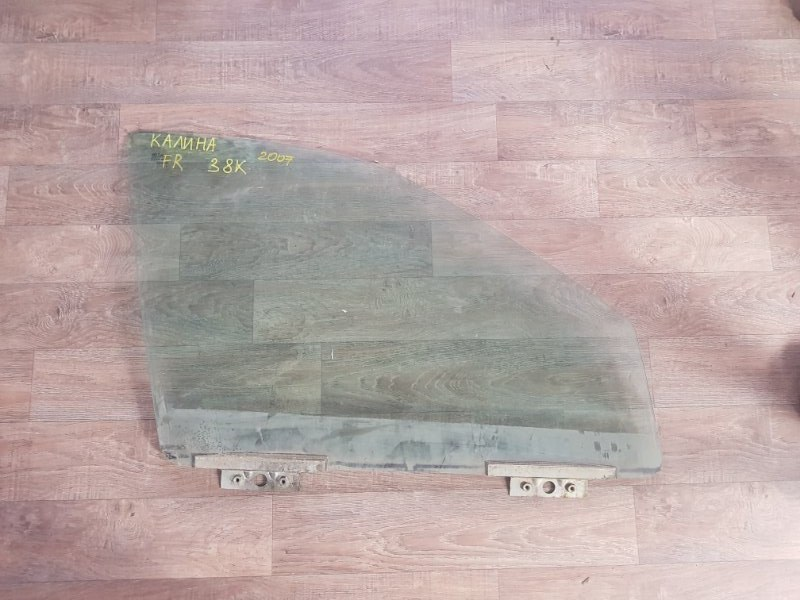 Стекло двери опускное Lada Kalina 11193 21114 2006 переднее правое (б/у)