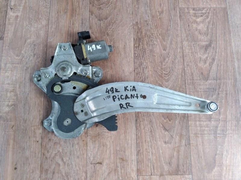 Механизм стеклоподъемника Kia Picanto TA G3LA 2011 задний правый (б/у)