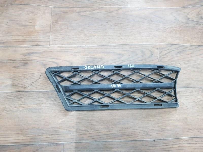 Решетка в бампер Lifan Solano 620 LF481Q3 2010 передняя правая (б/у)