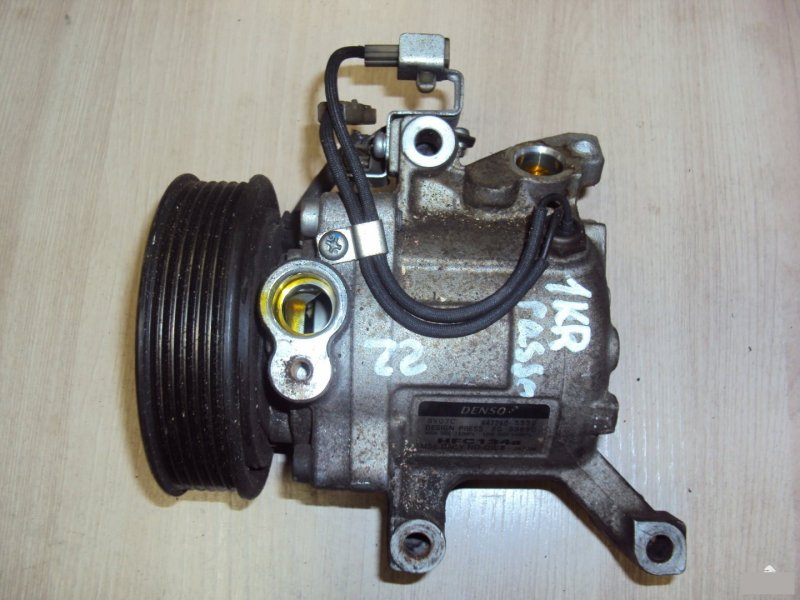 Компрессор кондиционера Toyota Aygo KGC15 1KRFE (б/у)