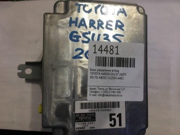 Блок управления airbag Toyota Harier GSU35 2AZFE (б/у)