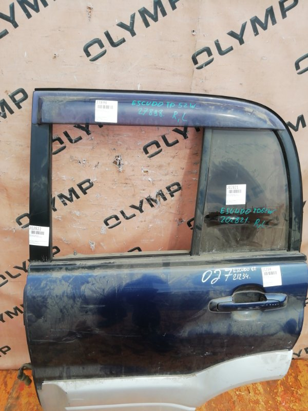 Стекло двери Suzuki Escudo TD62W H25A заднее левое (б/у)
