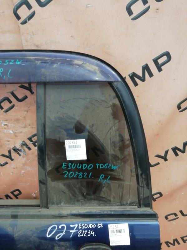 Форточка двери Suzuki Escudo TD62W H25A задняя левая (б/у)