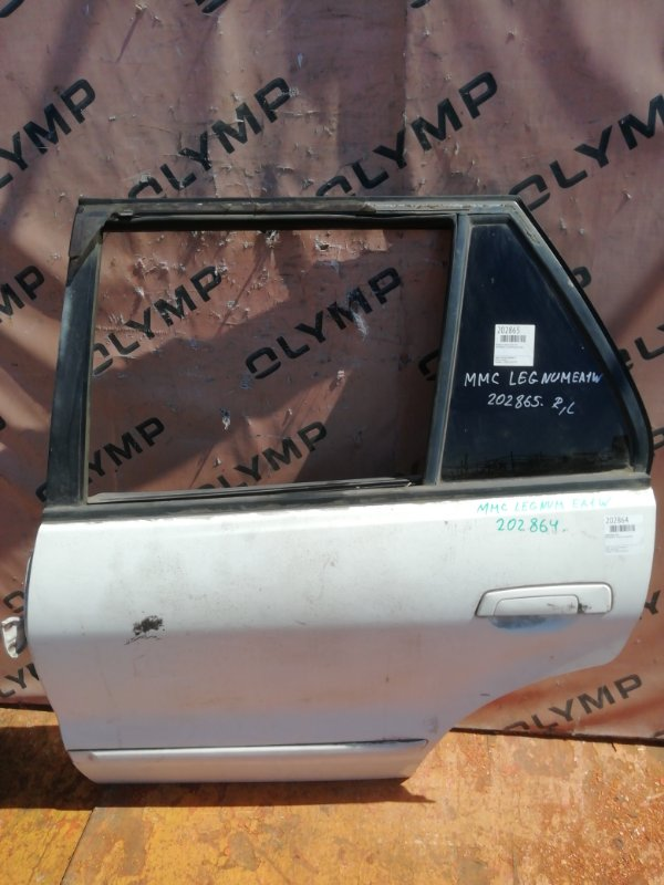Дверь Mitsubishi Legnum EA1W 4G93 задняя левая (б/у)