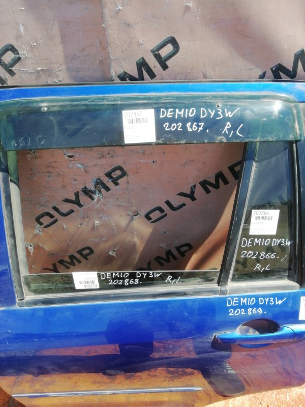 Ветровик Mazda Demio DY3W ZJ задний левый (б/у)