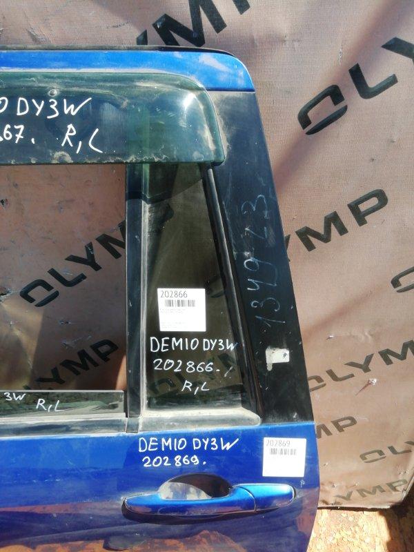 Форточка двери Mazda Demio DY3W ZJ задняя левая (б/у)