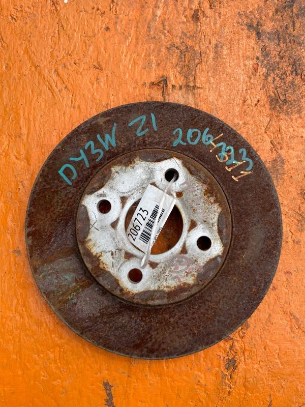 Тормозной диск Mazda Demio DY3W ZJ передний (б/у)