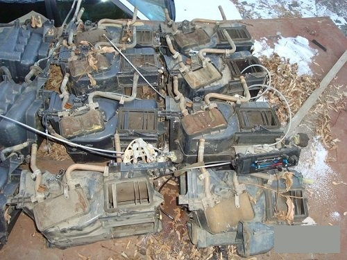 Радиатор печки Toyota Land Cruiser Prado LJ78 2LTE передний (б/у)