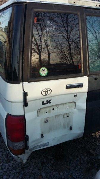 Стекло двери задней Toyota Land Cruiser 70 PZJ77 HZJ77 1HZ 1PZ 1997 заднее левое (б/у)