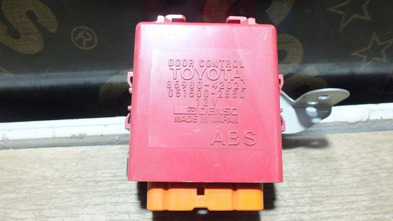 БЛОК УПРАВЛЕНИЯ ЗАМКАМИ ДВЕРЕЙ TOYOTA RAV4 SXA11 3S-FE 85980-42020 Япония